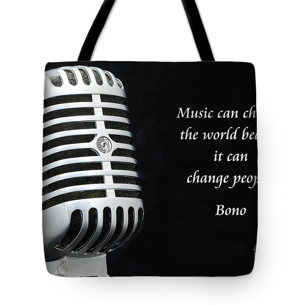 Bono On Music Tote Bag by Paul Ward