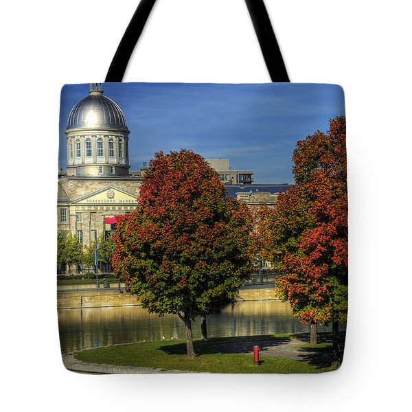 Bonsecours Market Tote Bag by Nicola Nobile