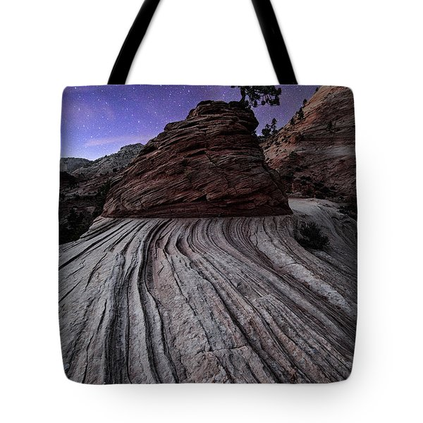 Bonzai In The Night Utah Adventure Landscape Photography By Kaylyn Franks Tote Bag
