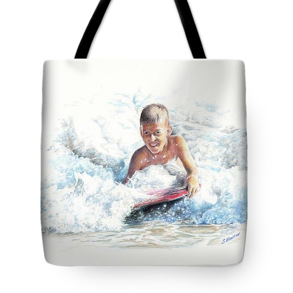 Boogie Boarding Tote Bag