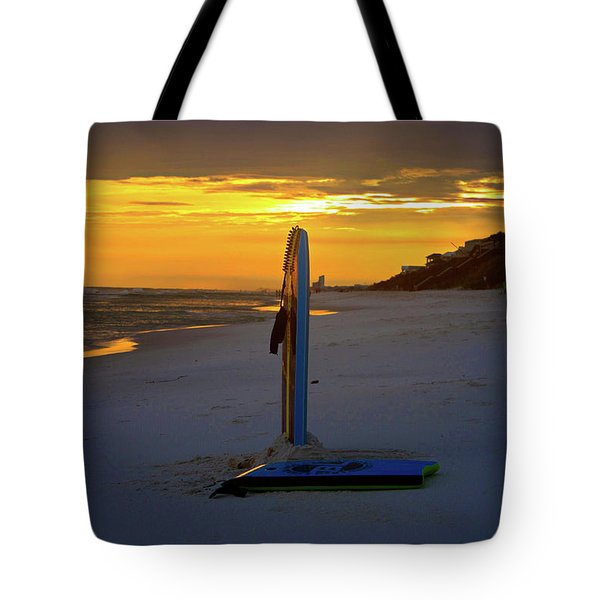Boogie Boards At Sunset Tote Bag