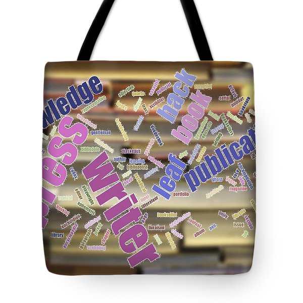 Book And Publication Background And Wordcloud Tote Bag