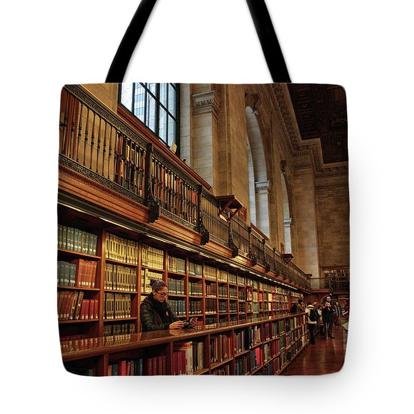 Tote Bag featuring the photograph Book Browsing by Jessica Jenney