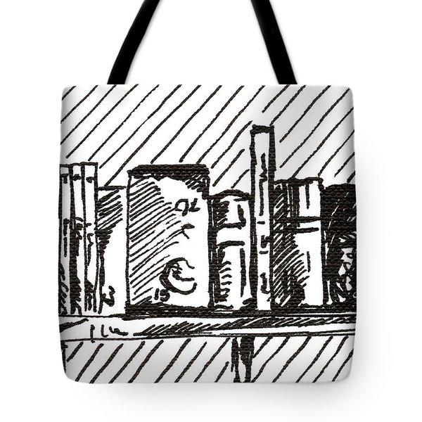 Bookshelf 1 2015 - Aceo Tote Bag