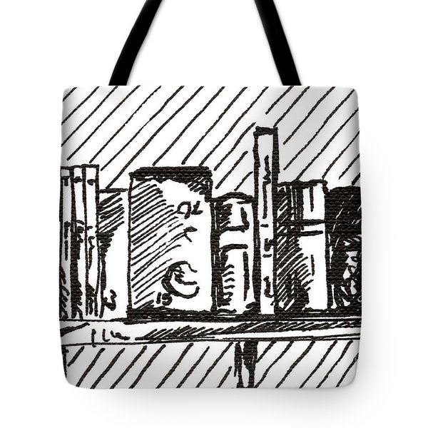Bookshelf 1 2015 - Aceo Tote Bag