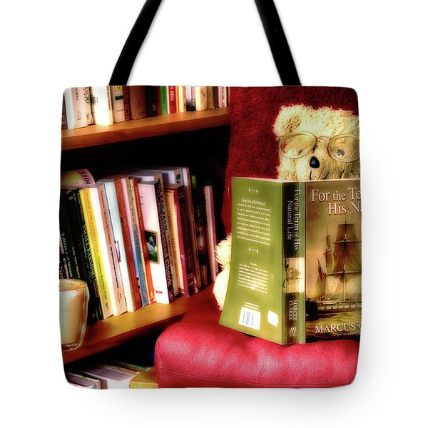 Bookworm Ted Tote Bag