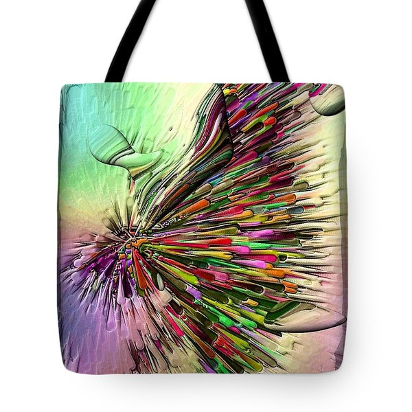 Tote Bag featuring the digital art Boom Coiors By Nico Bielow by Nico Bielow