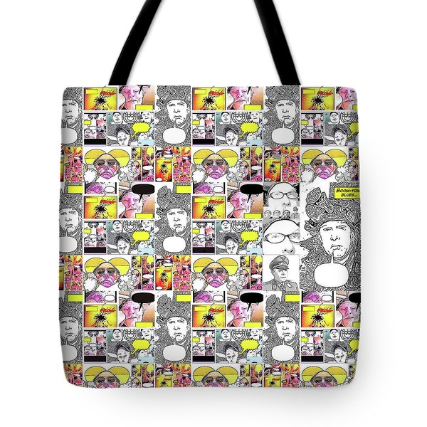 Boom Times 4 Tote Bag by Tobeimean Peter