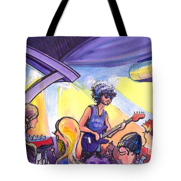 Boombox At The Barkley Tote Bag by David Sockrider
