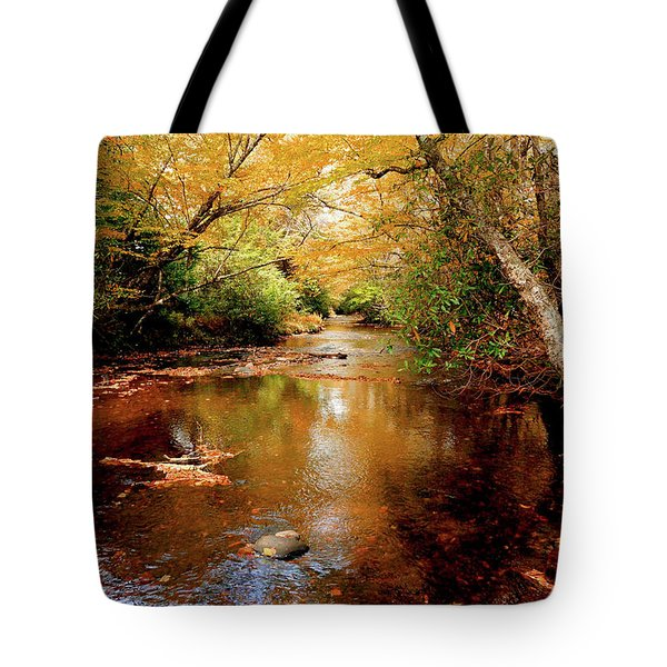 Tote Bag featuring the photograph Boone Fork Stream by Meta Gatschenberger