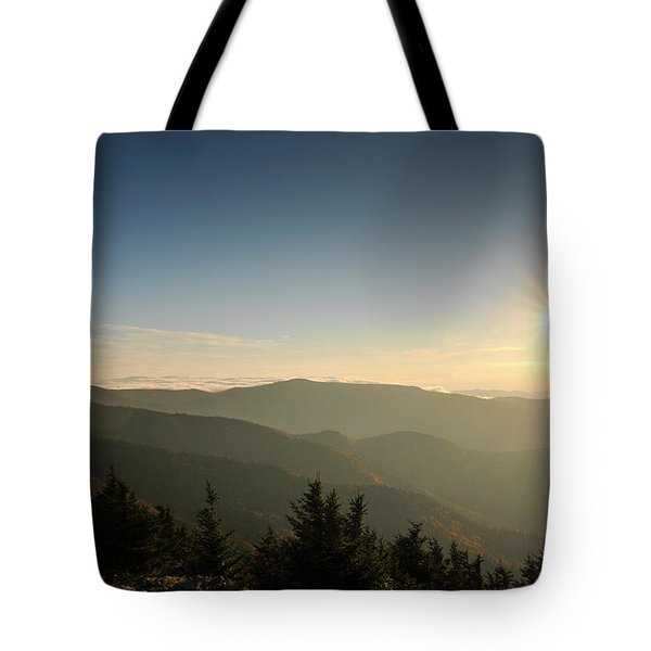 Boone Nc Area Sunset Tote Bag