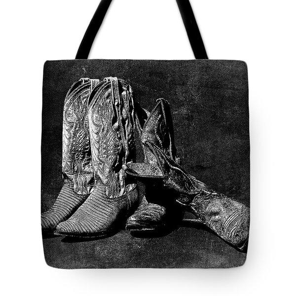 Boot Friends - Art Bw Tote Bag