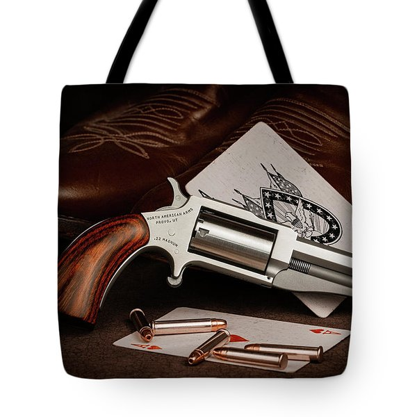 Boot Gun Still Life Tote Bag
