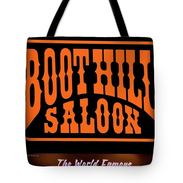 Boot Hill Saloon Sign Tote Bag by DigiArt Diaries by Vicky B Fuller