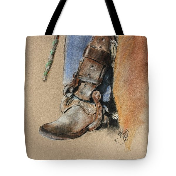 Boot In Oxbow Stirrup Tote Bag
