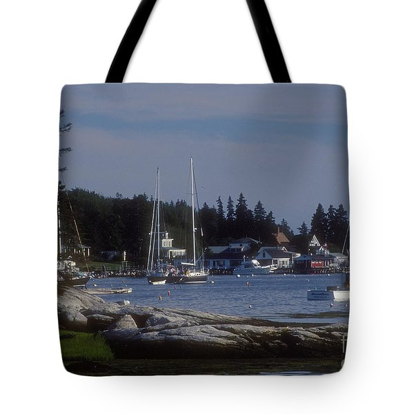 Boothbay Harbor In Maine Tote Bag