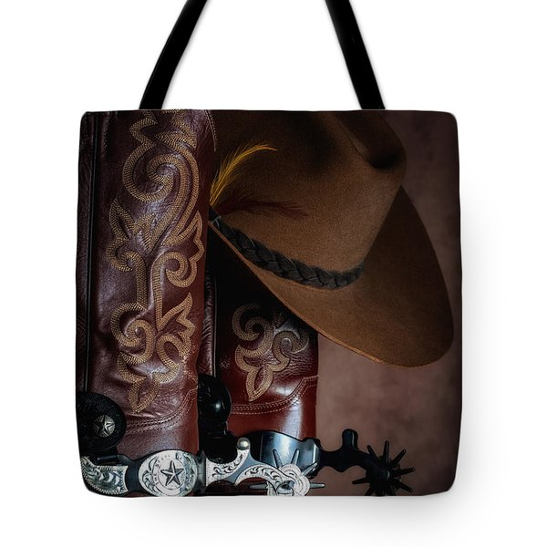 Boots And Spurs Tote Bag