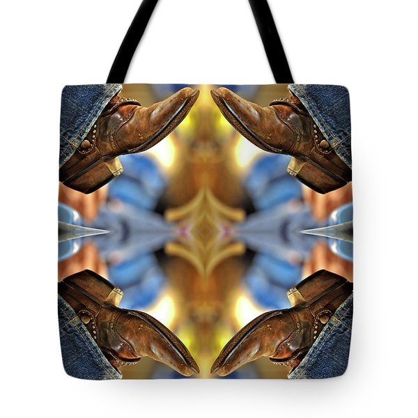 Boots Kaleidoscope Tote Bag by Joan Carroll