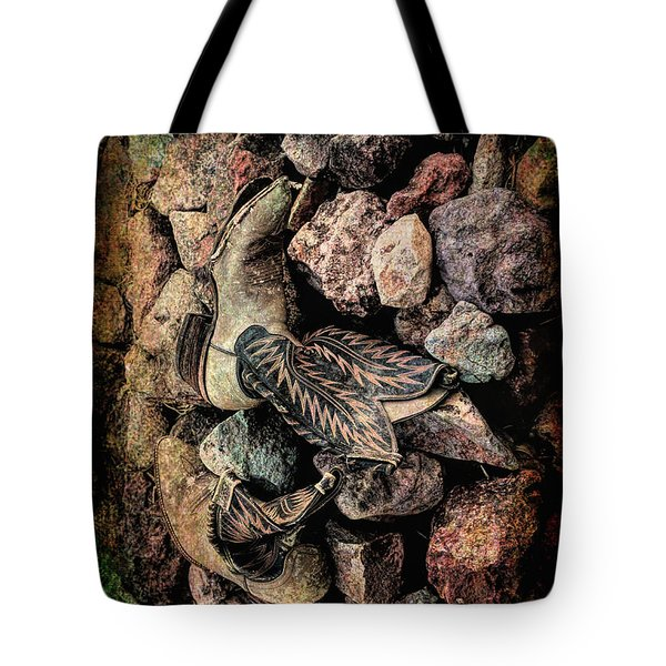 Tote Bag featuring the photograph Boots by Michael Hope