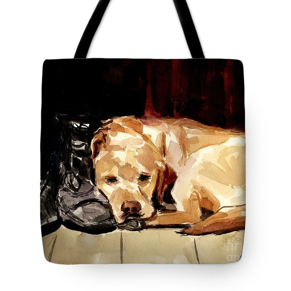 Boots Tote Bag by Molly Poole