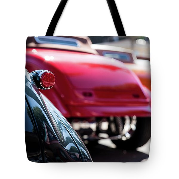 Tote Bag featuring the photograph Boots Of Colorful Cars by Lora Lee Chapman