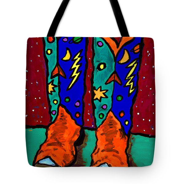 Boots On Rust Tote Bag