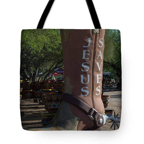 Tote Bag featuring the photograph Boots On The Ground For Jesus by Carolina Liechtenstein