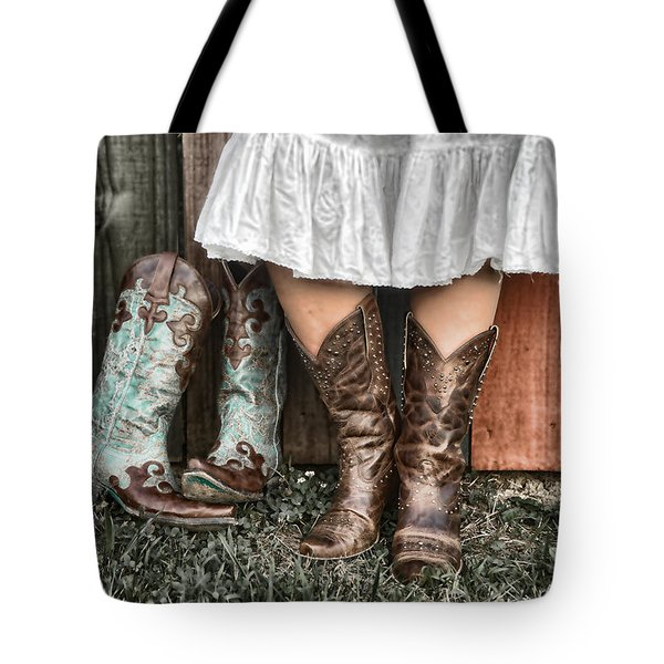 Boots X 2 Tote Bag