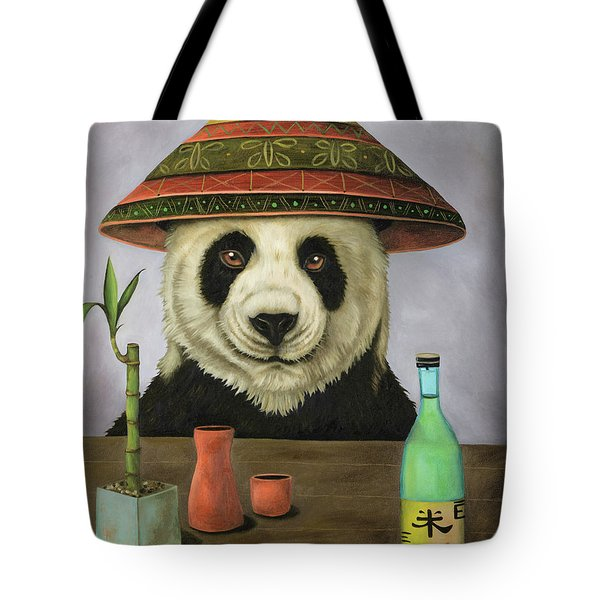 Boozer 4 Tote Bag by Leah Saulnier The Painting Maniac