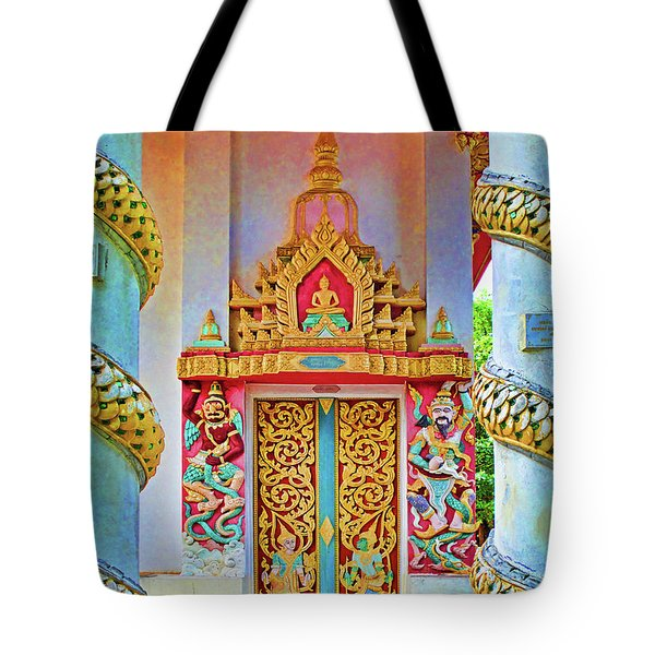 Bophut Temple In Thailand Tote Bag