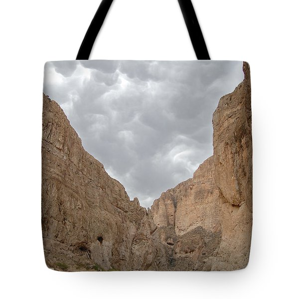 Boquillas Canyon And Scalloped Clouds Big Bend National Park Texas Tote Bag
