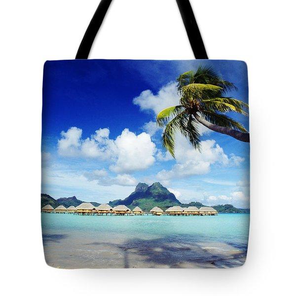 Bora Bora, Lagoon Resort Tote Bag by Himani - Printscapes