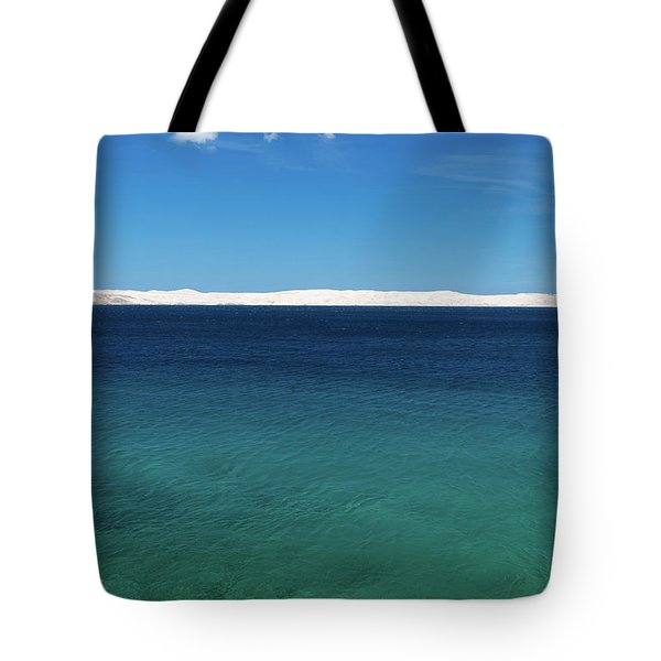 Tote Bag featuring the photograph Bora In Velebit Kanal I by Davor Zerjav