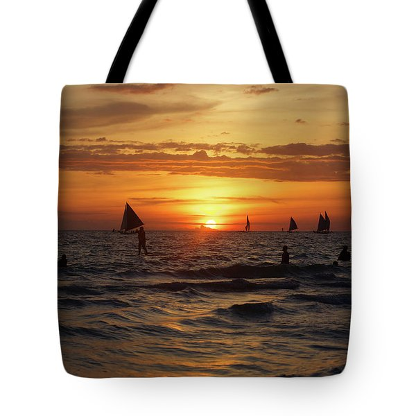 Boracay Sunset Tote Bag