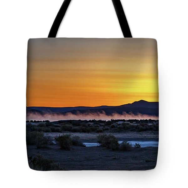 Tote Bag featuring the photograph Borax Lake At Sunrise by Cat Connor