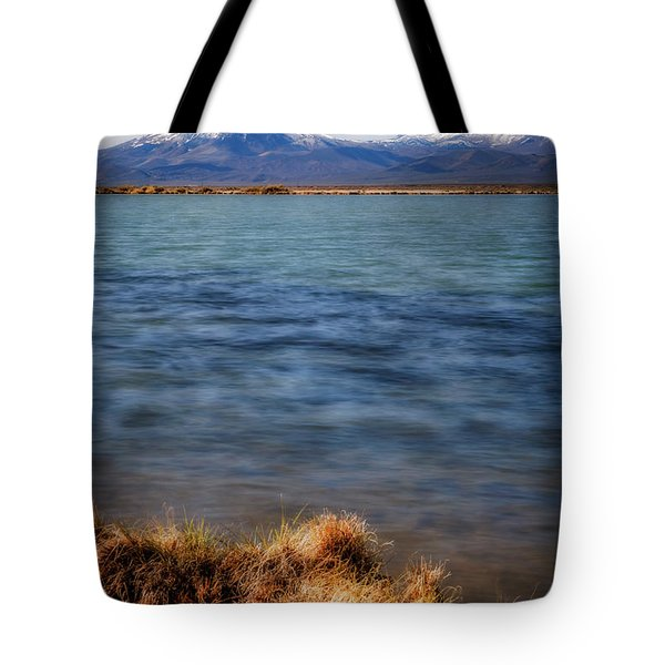 Tote Bag featuring the photograph Borax Lake by Cat Connor