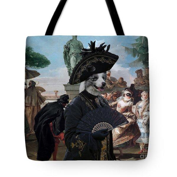 Border Collie Art Canvas Print - The Minuet Tote Bag