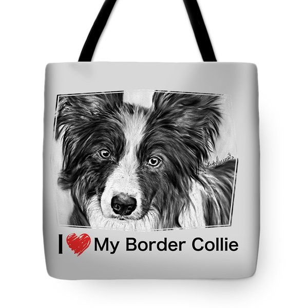 Border Collie Stare Tote Bag