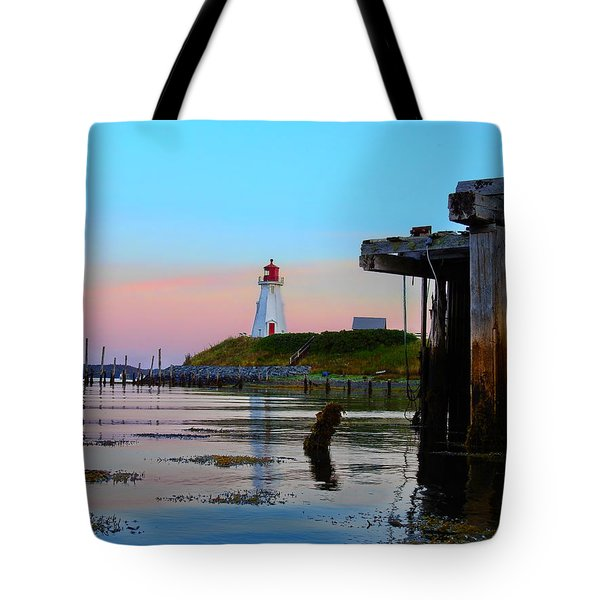 Border Lights Tote Bag