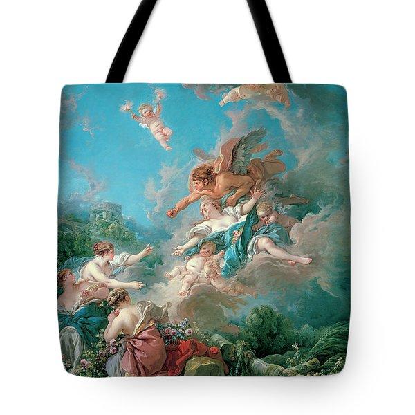 Boreas Abducting Oreithyia Tote Bag