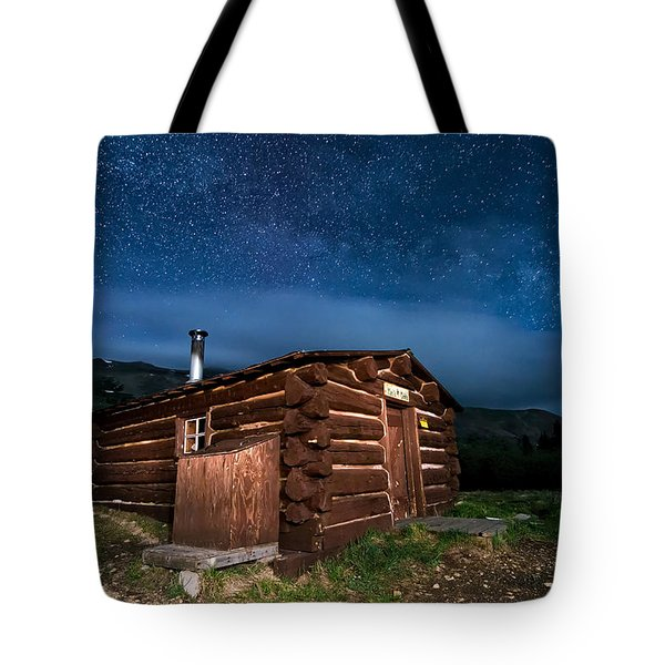 Boreas Pass Cabin Moonlit Night Tote Bag