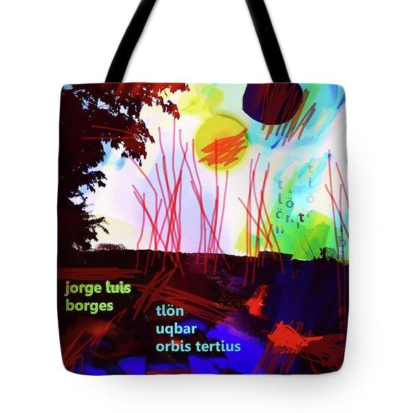 Borges Tlon Poster 2 Tote Bag