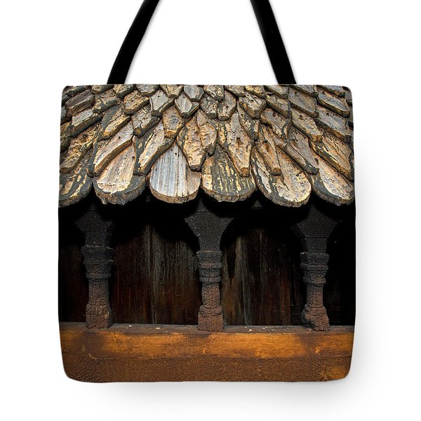 Borgund Stave Church Roof Tote Bag by Aivar Mikko
