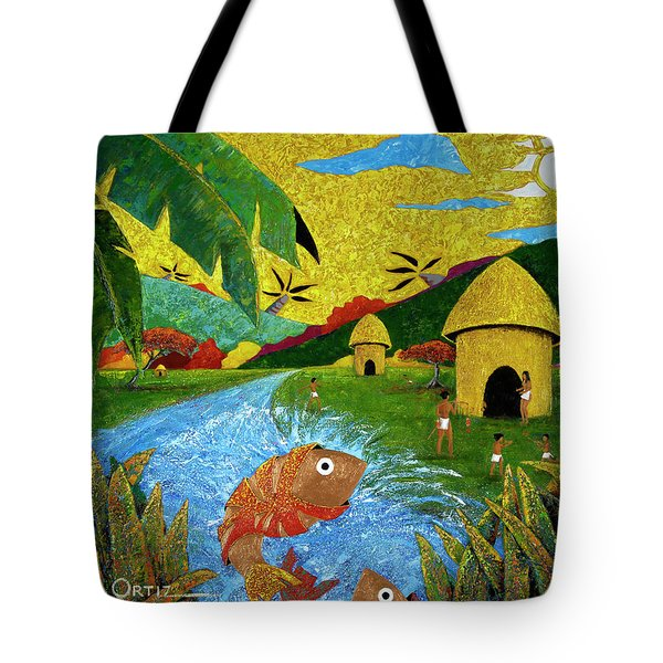 Tote Bag featuring the painting Boriken by Oscar Ortiz