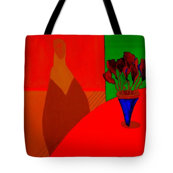Tote Bag featuring the painting Boris by Bill OConnor