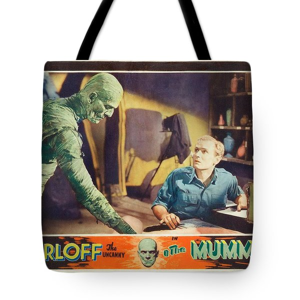Boris Karloff In The Mummy 1932 Tote Bag