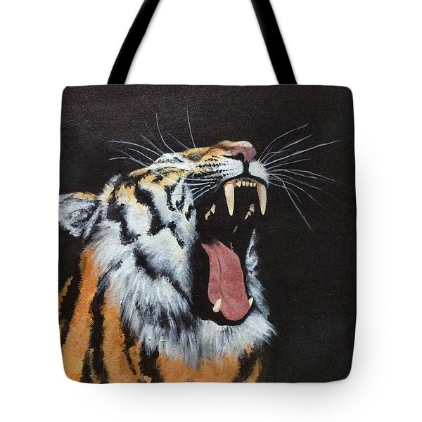Tote Bag featuring the painting Born Free by Elizabeth Mundaden
