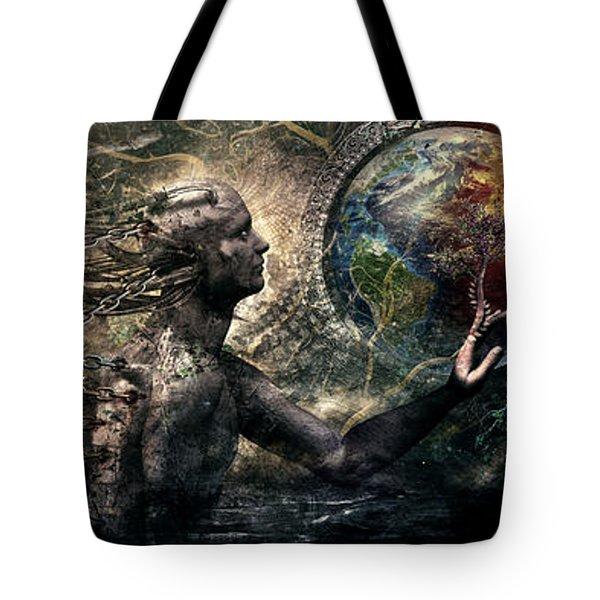 Born Of Osiris Soul Sphere Tote Bag by Cameron Gray