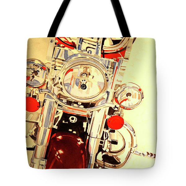Tote Bag featuring the painting Born To Be Wild by Cynthia Powell