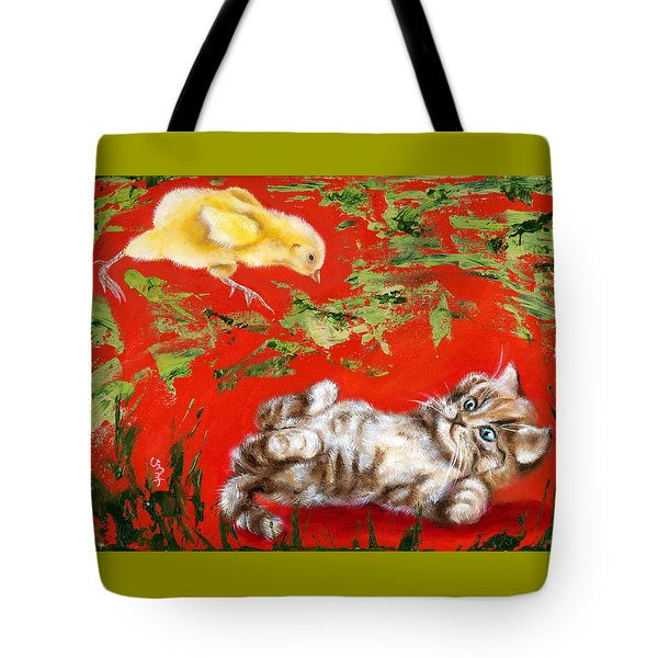 Tote Bag featuring the painting Born To Be Wild by Hiroko Sakai